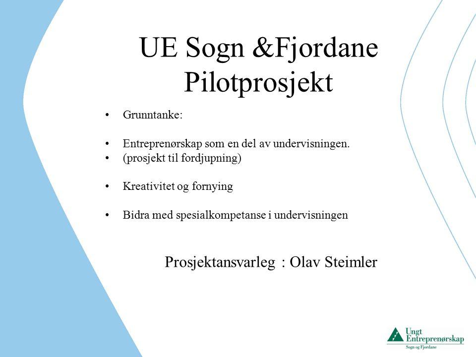UE Sogn &Fjordane Pilotprosjekt