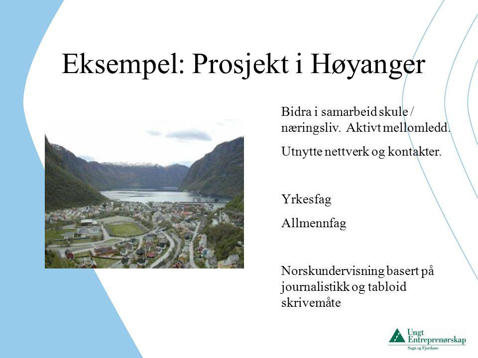 Eksempel: Prosjekt i Høyanger