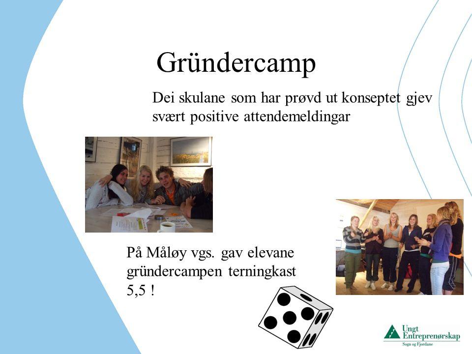 Gründercamp Dei skulane som har prøvd ut konseptet gjev svært positive attendemeldingar.