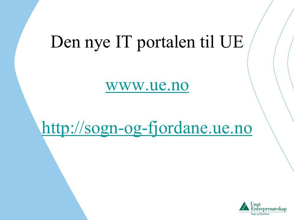 Den nye IT portalen til UE
