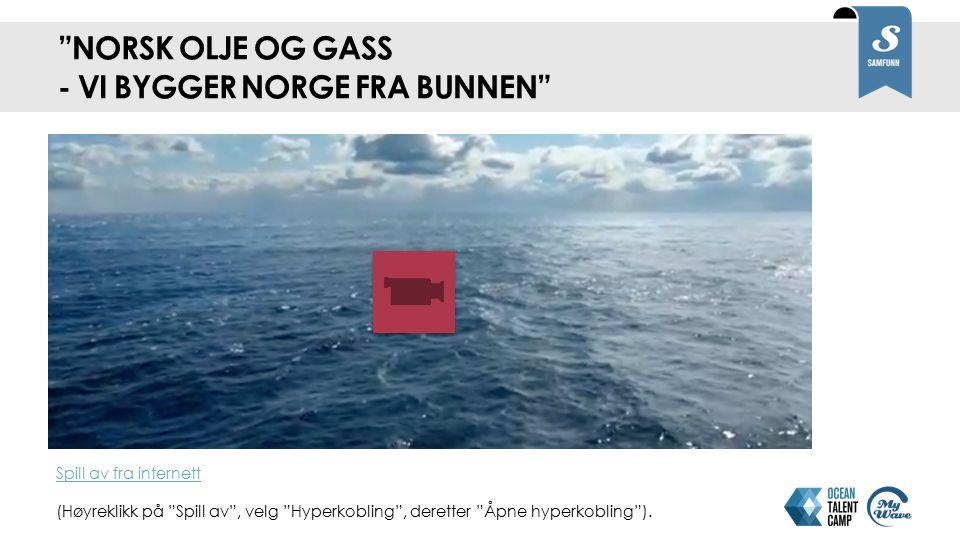 Norsk olje og gass - Vi bygger Norge fra bunnen