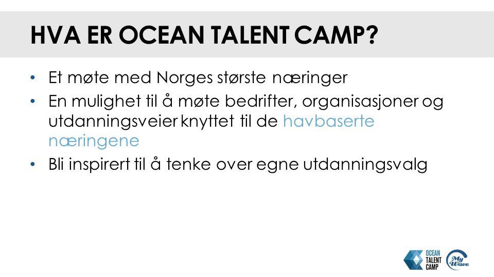 Hva er Ocean Talent Camp