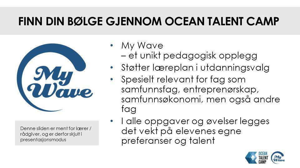 Finn din bølge gjennom Ocean Talent Camp