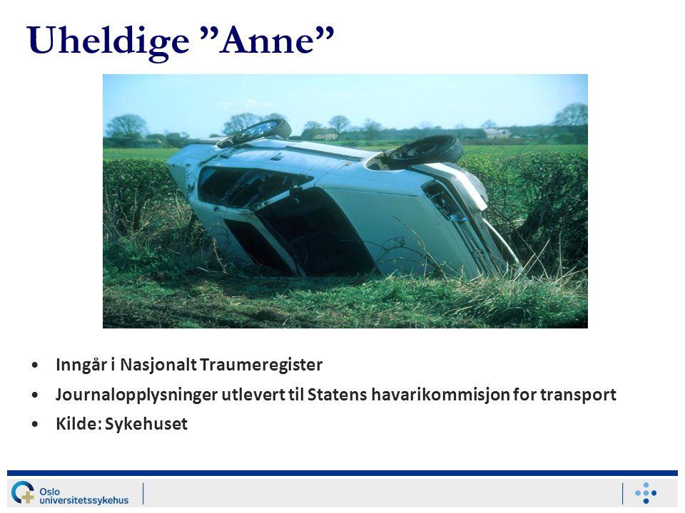 Uheldige Anne Inngår i Nasjonalt Traumeregister