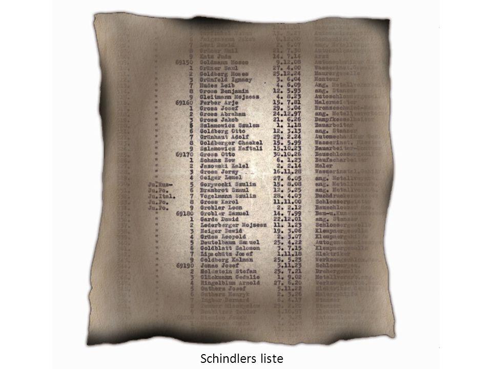 Schindlers liste – Informasjon redder liv