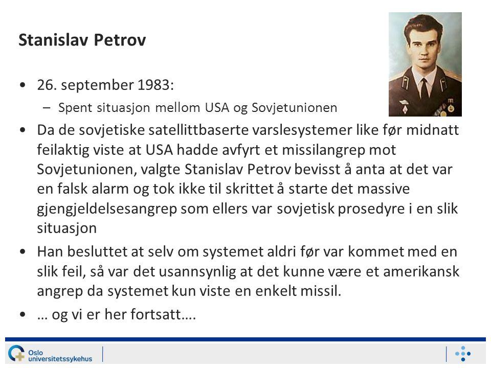 Stanislav Petrov 26. september 1983: