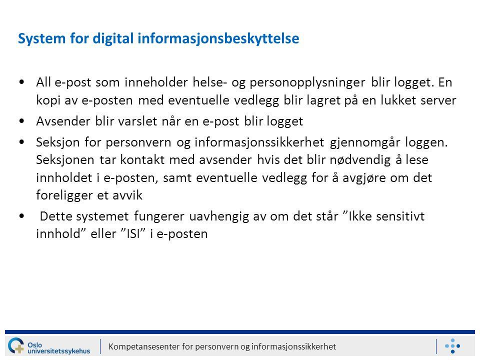 System for digital informasjonsbeskyttelse
