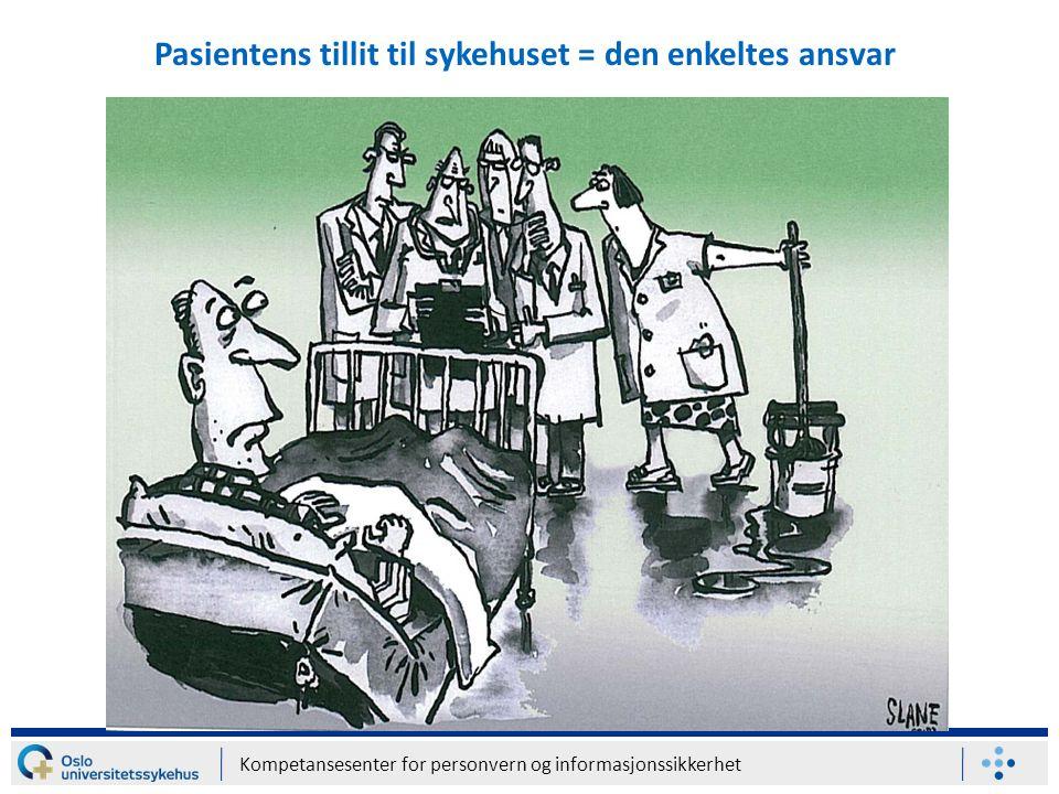 Pasientens tillit til sykehuset = den enkeltes ansvar