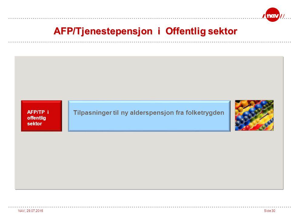 AFP/Tjenestepensjon i Offentlig sektor