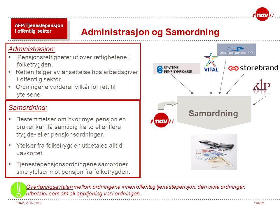 Administrasjon og Samordning