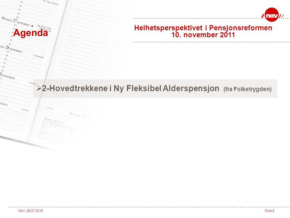 Helhetsperspektivet i Pensjonsreformen 10. november 2011