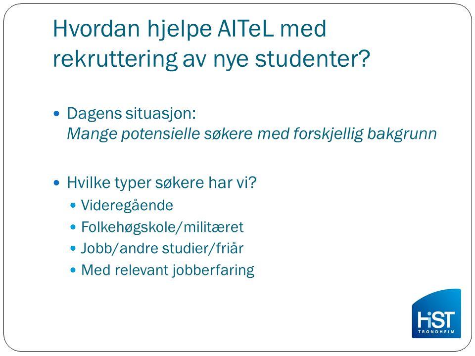 Hvordan hjelpe AITeL med rekruttering av nye studenter