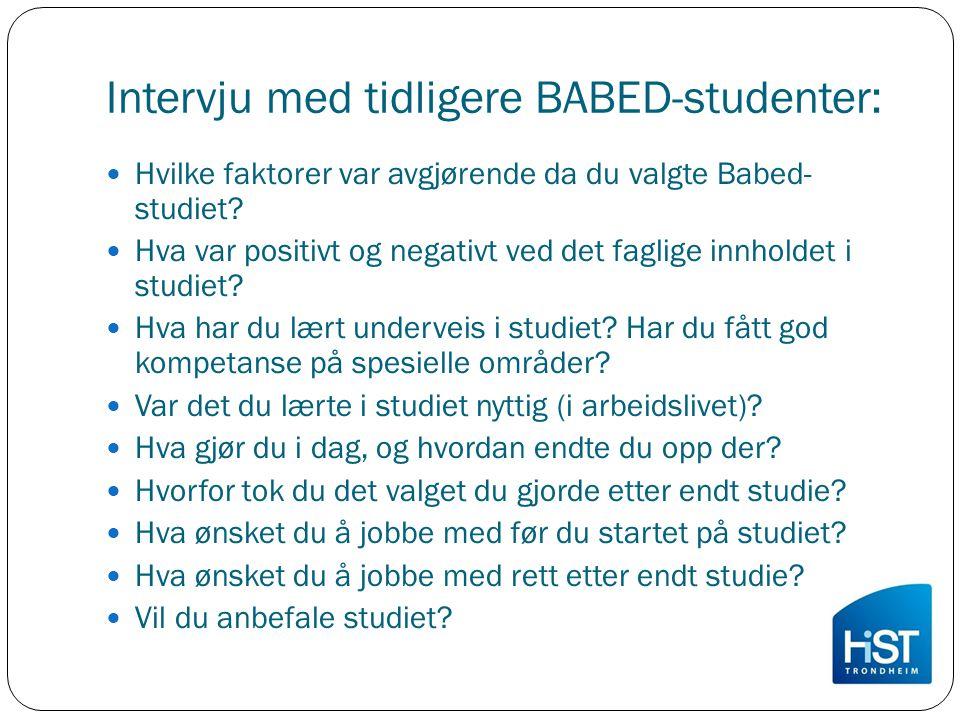 Intervju med tidligere BABED-studenter: