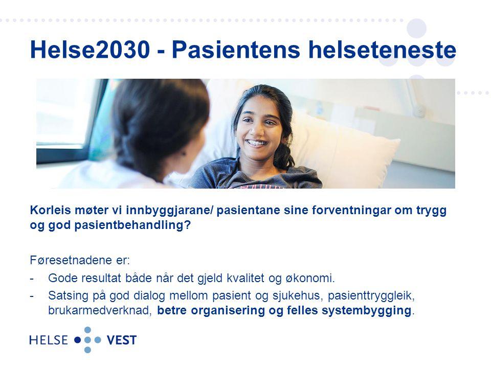 Helse2030 - Pasientens helseteneste