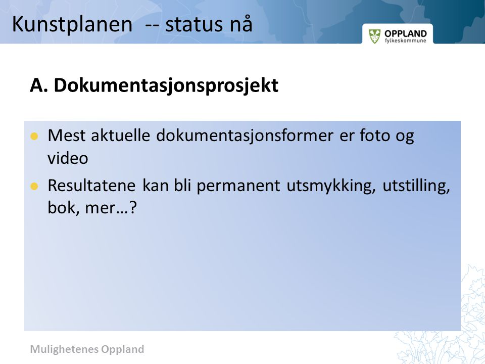 A. Dokumentasjonsprosjekt