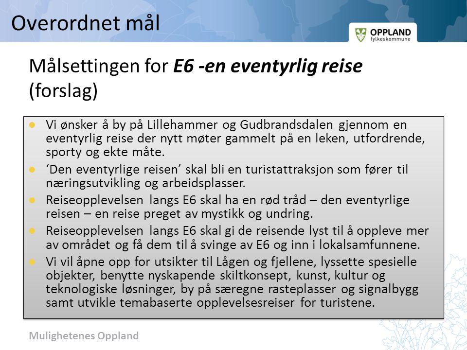 Målsettingen for E6 -en eventyrlig reise (forslag)