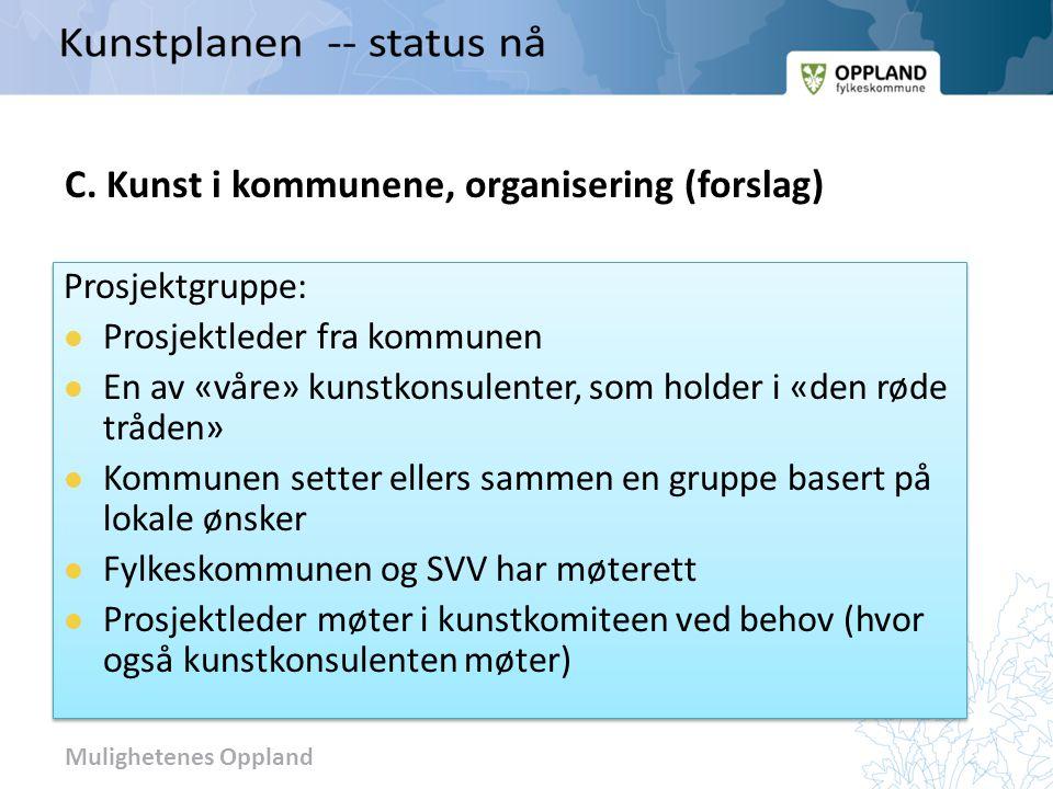 C. Kunst i kommunene, organisering (forslag)