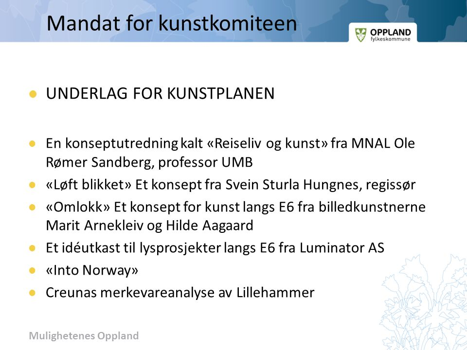 Mandat for kunstkomiteen