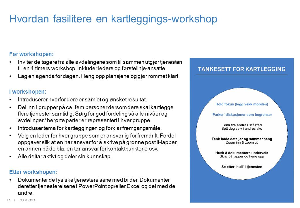Hvordan fasilitere en kartleggings-workshop