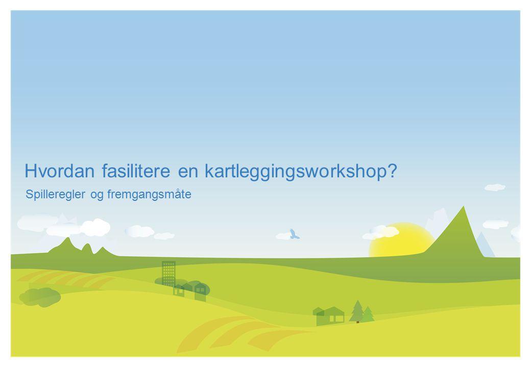 Hvordan fasilitere en kartleggingsworkshop