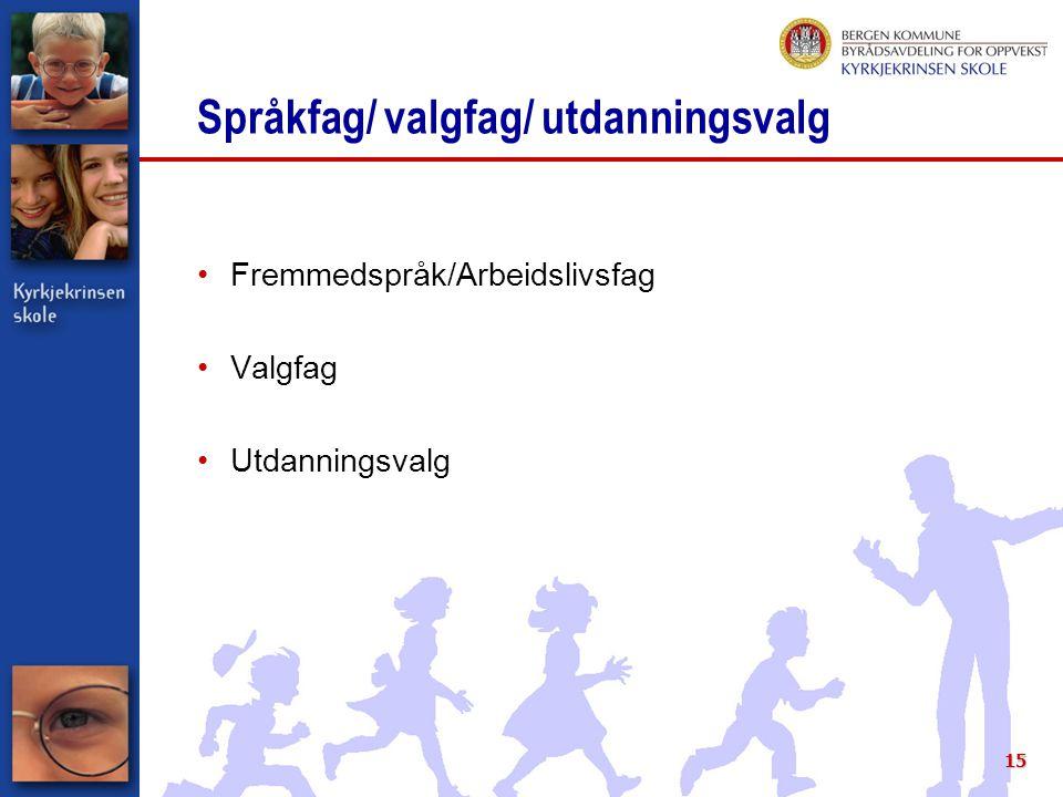 Språkfag/ valgfag/ utdanningsvalg