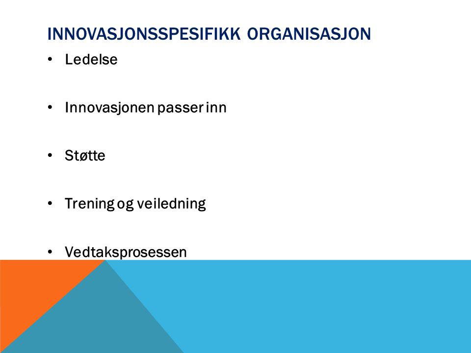 Innovasjonsspesifikk organisasjon