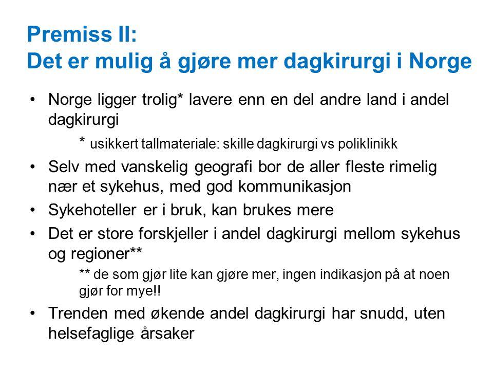 Det er mulig å gjøre mer dagkirurgi i Norge