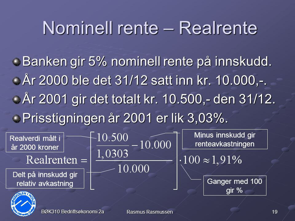Nominell rente – Realrente