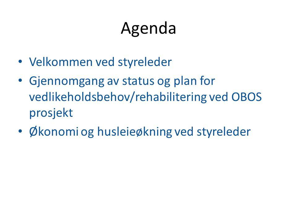 Agenda Velkommen ved styreleder