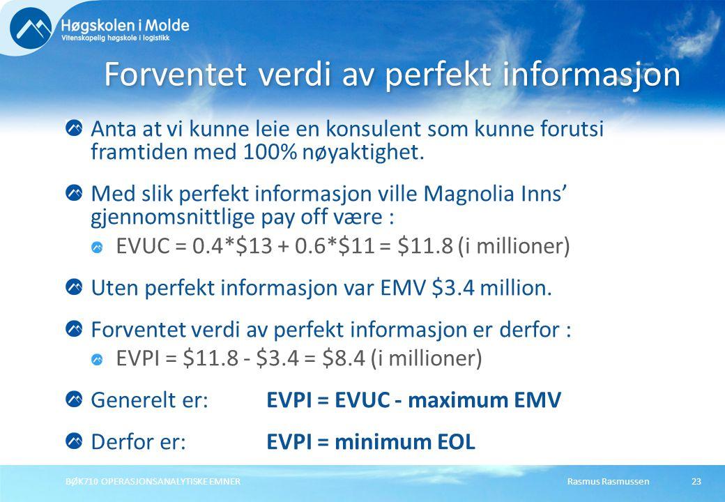 Forventet verdi av perfekt informasjon
