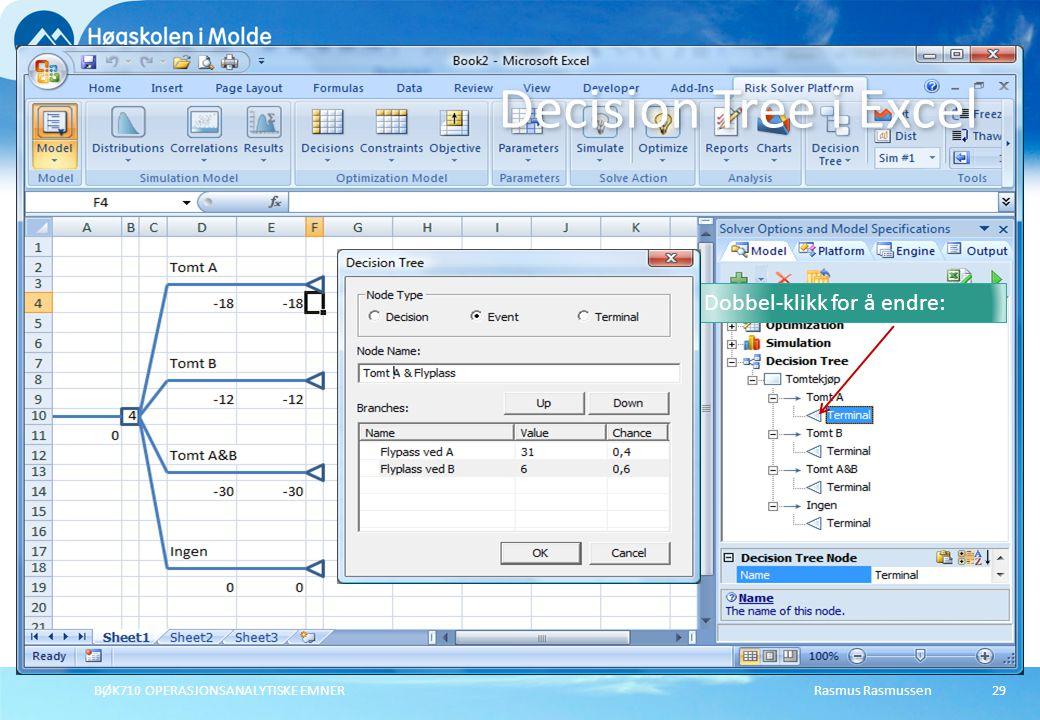 Decision Tree i Excel Dobbel-klikk for å endre: