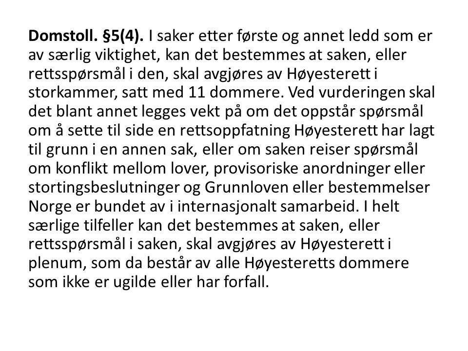 Domstoll. §5(4).