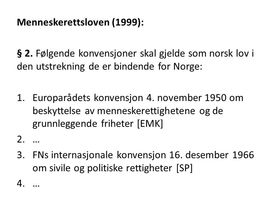 Menneskerettsloven (1999):