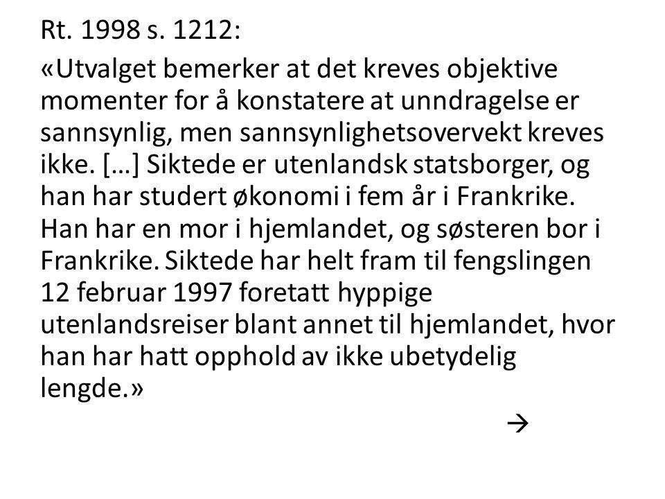 Rt. 1998 s. 1212: