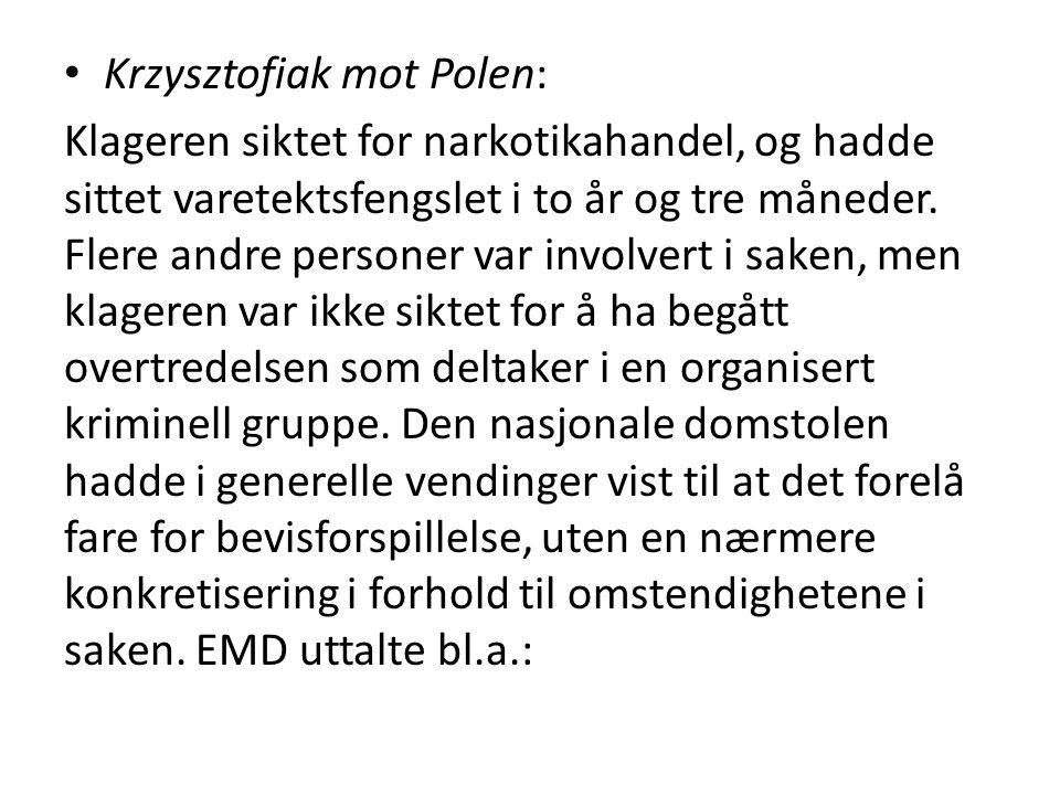 Krzysztofiak mot Polen: