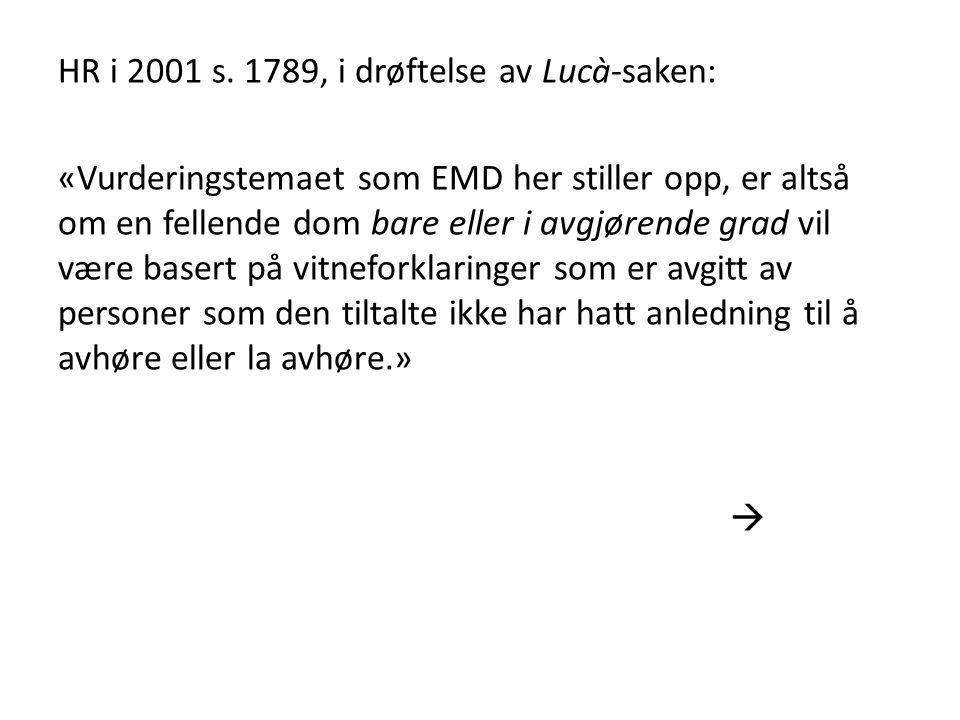HR i 2001 s.