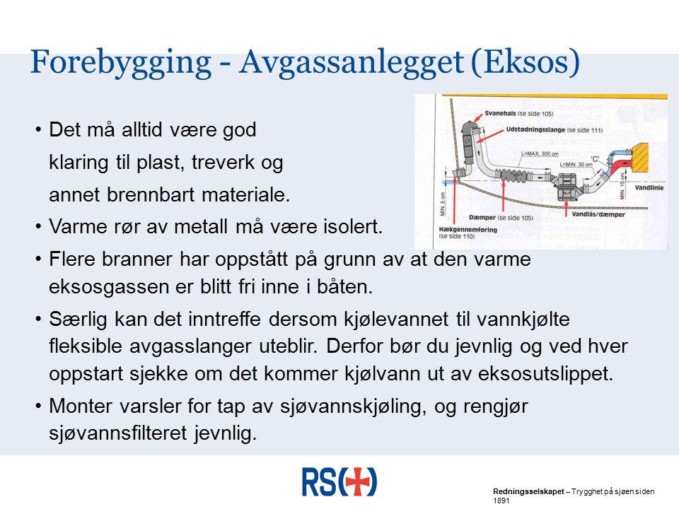 Forebygging - Avgassanlegget (Eksos)