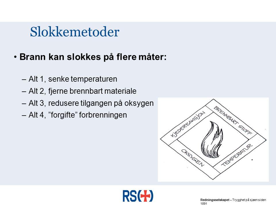 Slokkemetoder Brann kan slokkes på flere måter: