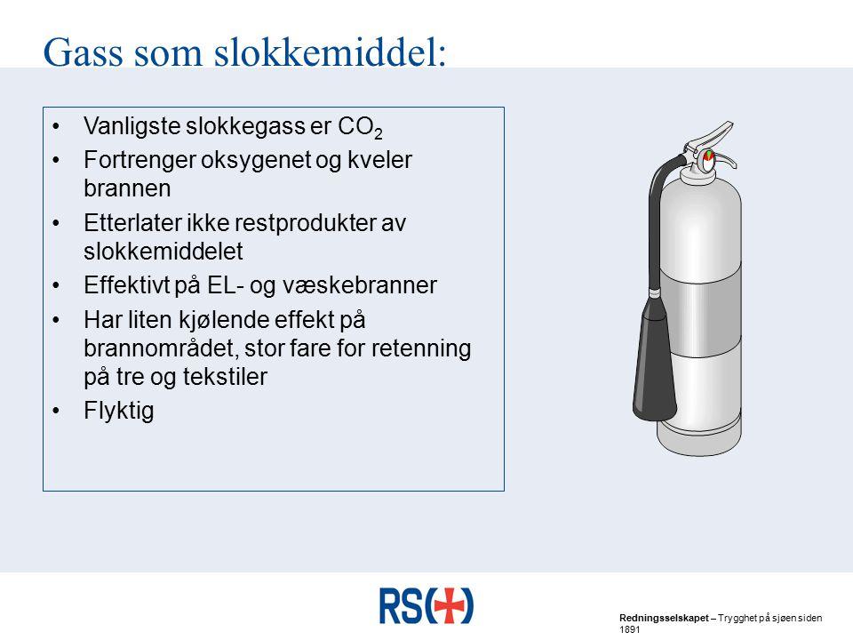 Gass som slokkemiddel: