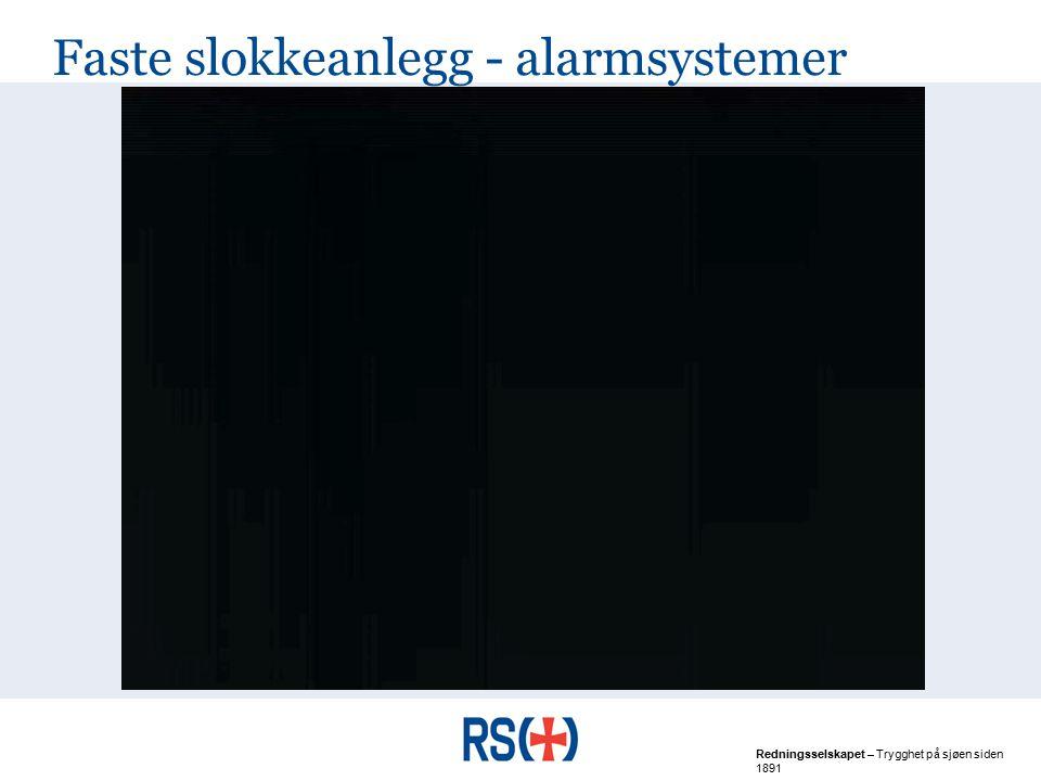 Faste slokkeanlegg - alarmsystemer