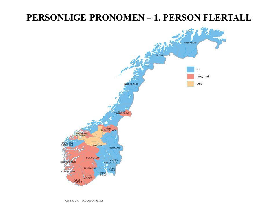 PERSONLIGE PRONOMEN – 1. PERSON FLERTALL