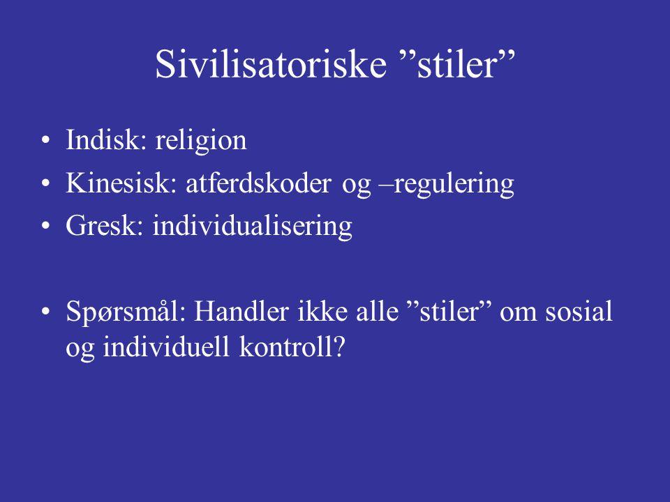 Sivilisatoriske stiler