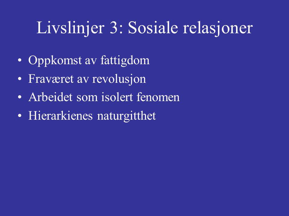 Livslinjer 3: Sosiale relasjoner