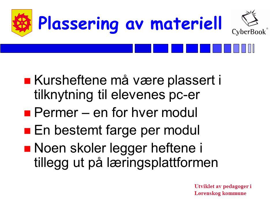 Plassering av materiell
