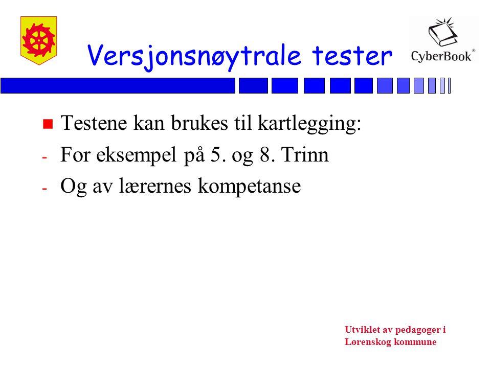 Versjonsnøytrale tester
