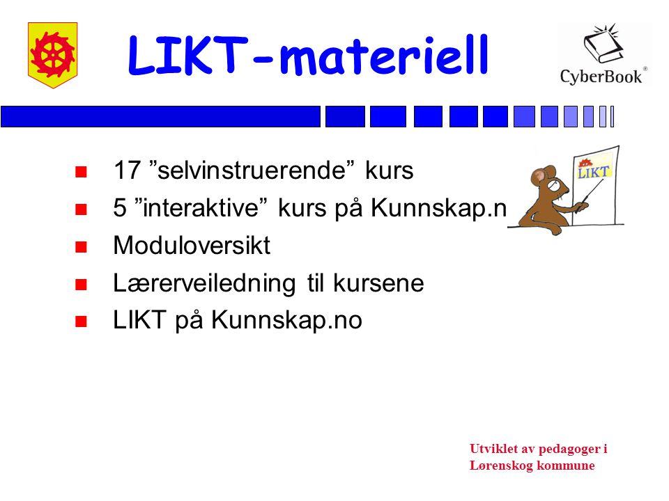 LIKT-materiell 17 selvinstruerende kurs