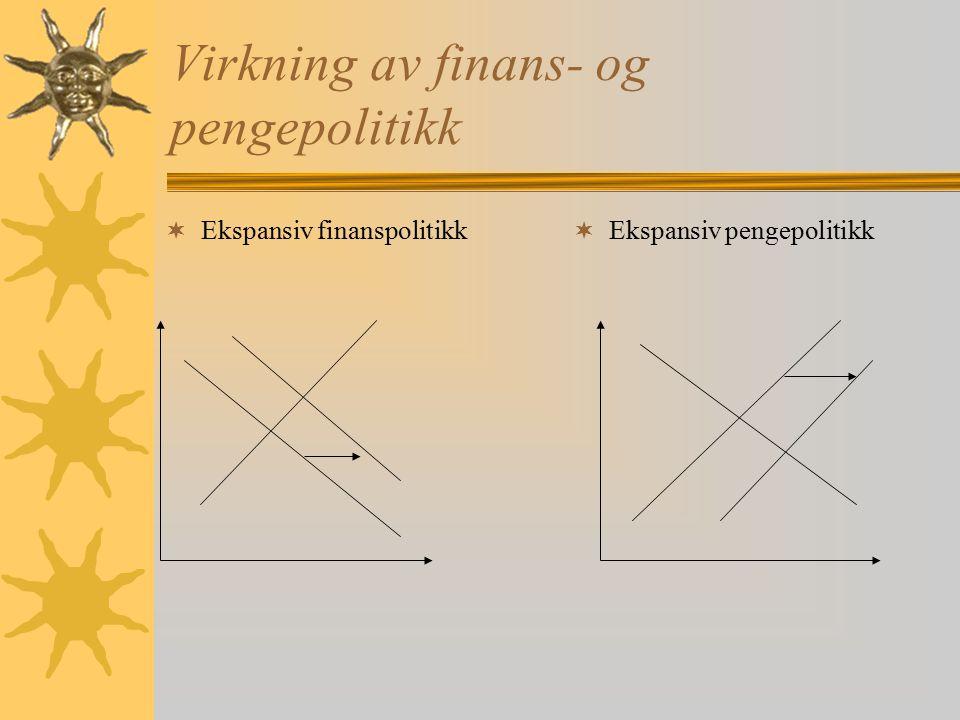 Virkning av finans- og pengepolitikk
