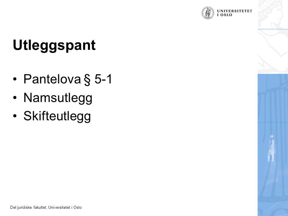 Utleggspant Pantelova § 5-1 Namsutlegg Skifteutlegg 22