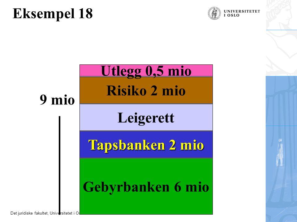 Eksempel 18 Utlegg 0,5 mio Risiko 2 mio 9 mio Leigerett