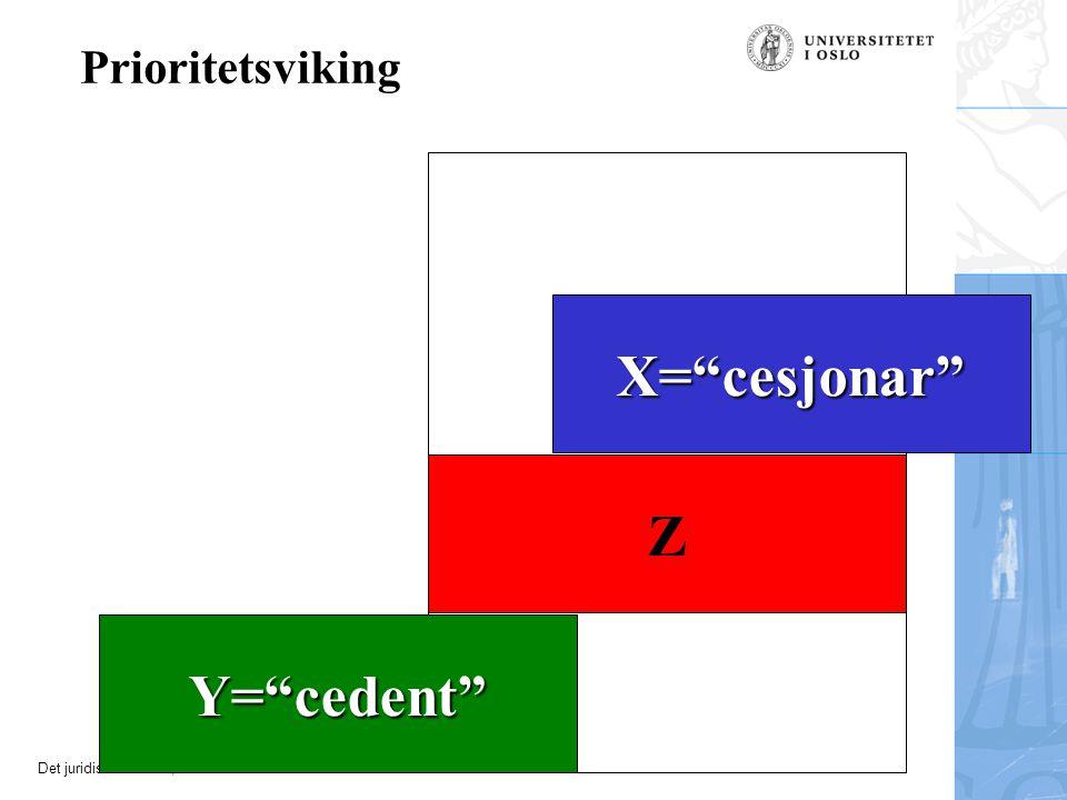 X= cesjonar Z Y= cedent